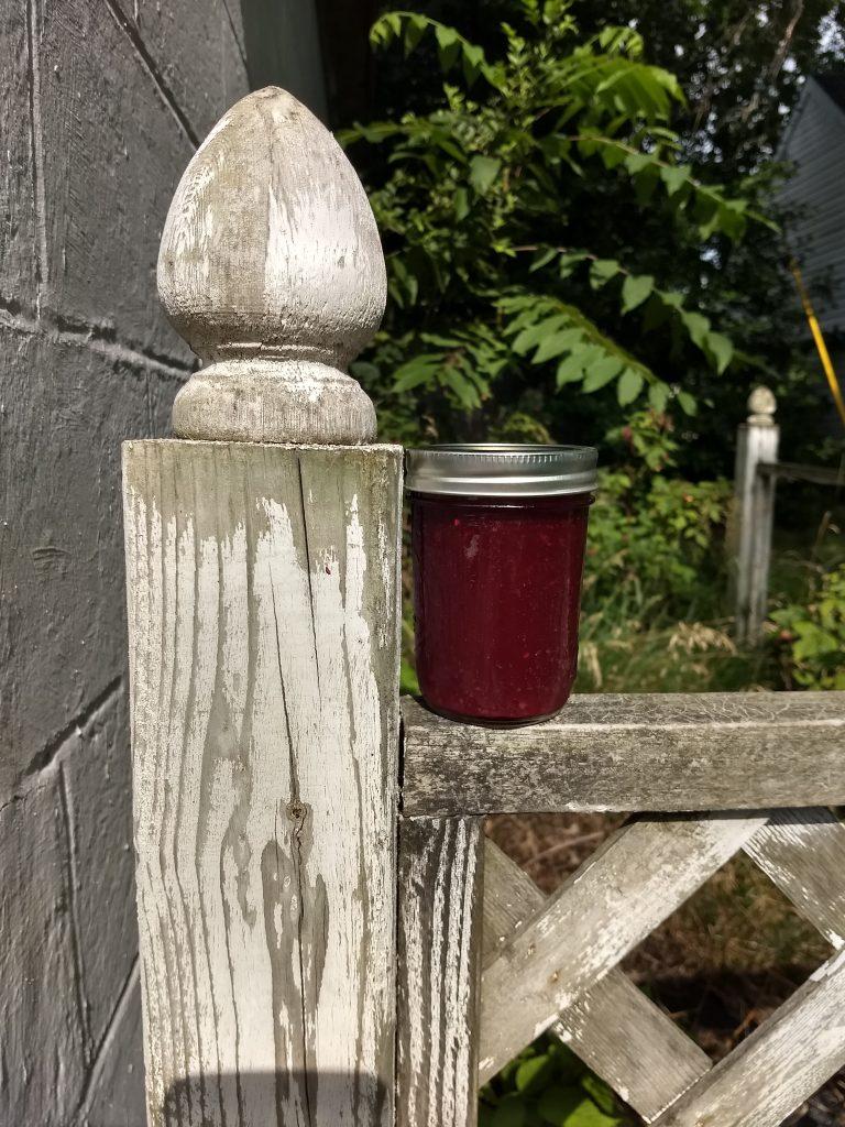 homemade jam in the sun
